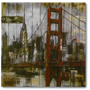 pont bois métal