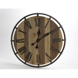 cades horloge bois metal