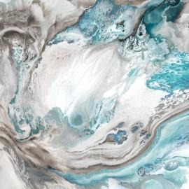abstrait bleu lagon