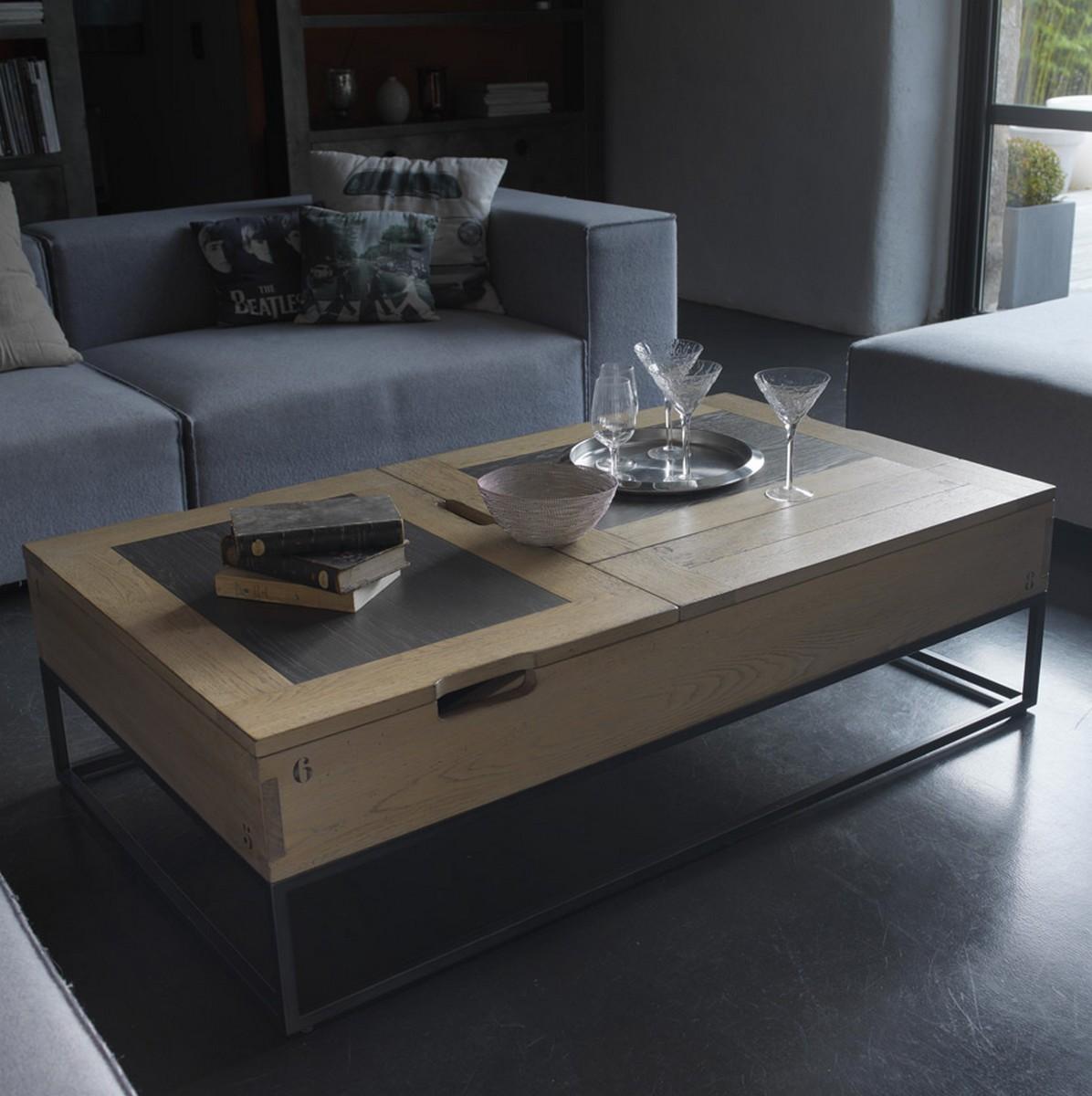 Table basse Artcopi relevable L6xP6xH6cm